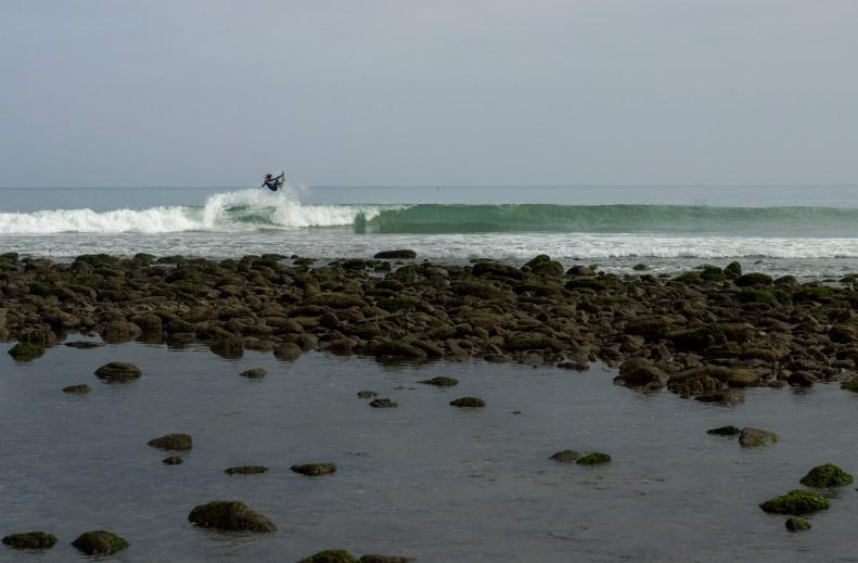Mancora Surfer Rail Grab Air