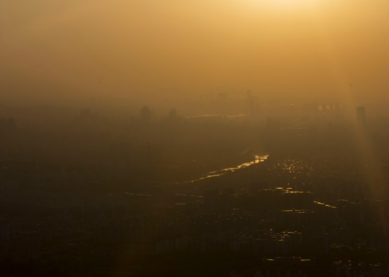NAmhansanseong yellow dust