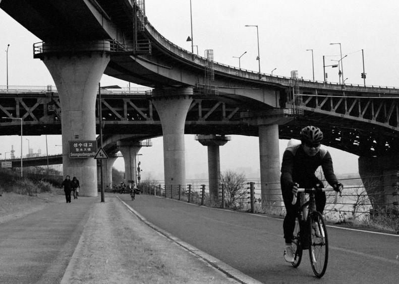 Overpass Cyclist