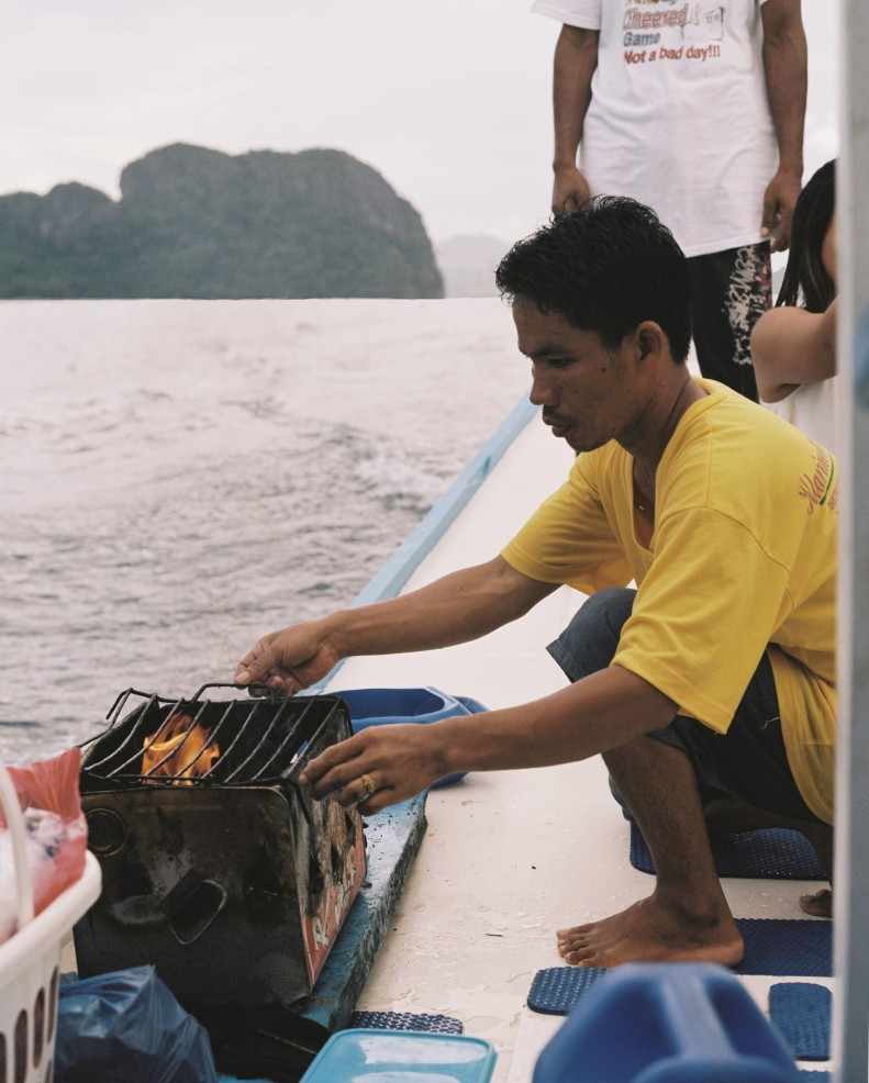 cooking on Boat