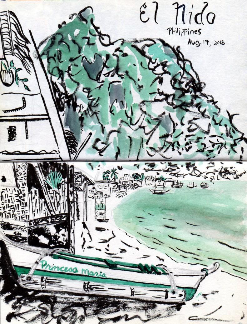 Philippines Sketch El Nido